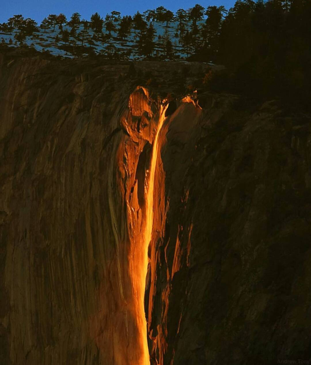 Stunning and Rare capture of Firefall in Yosemite National Park