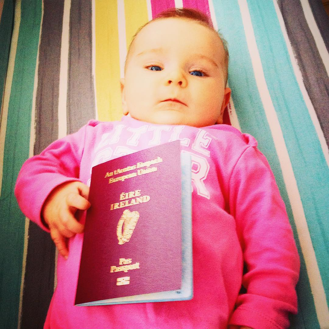 One Year Old Traveler who has traveled around 7 countries already