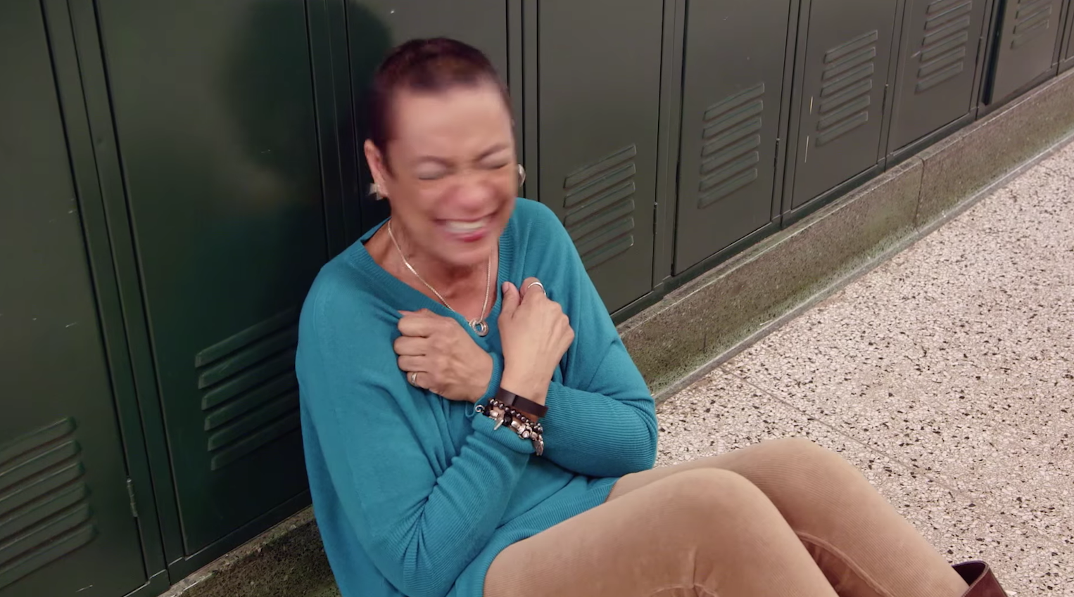 A teacher heads down a hallway and what she saw will give you goose bumps