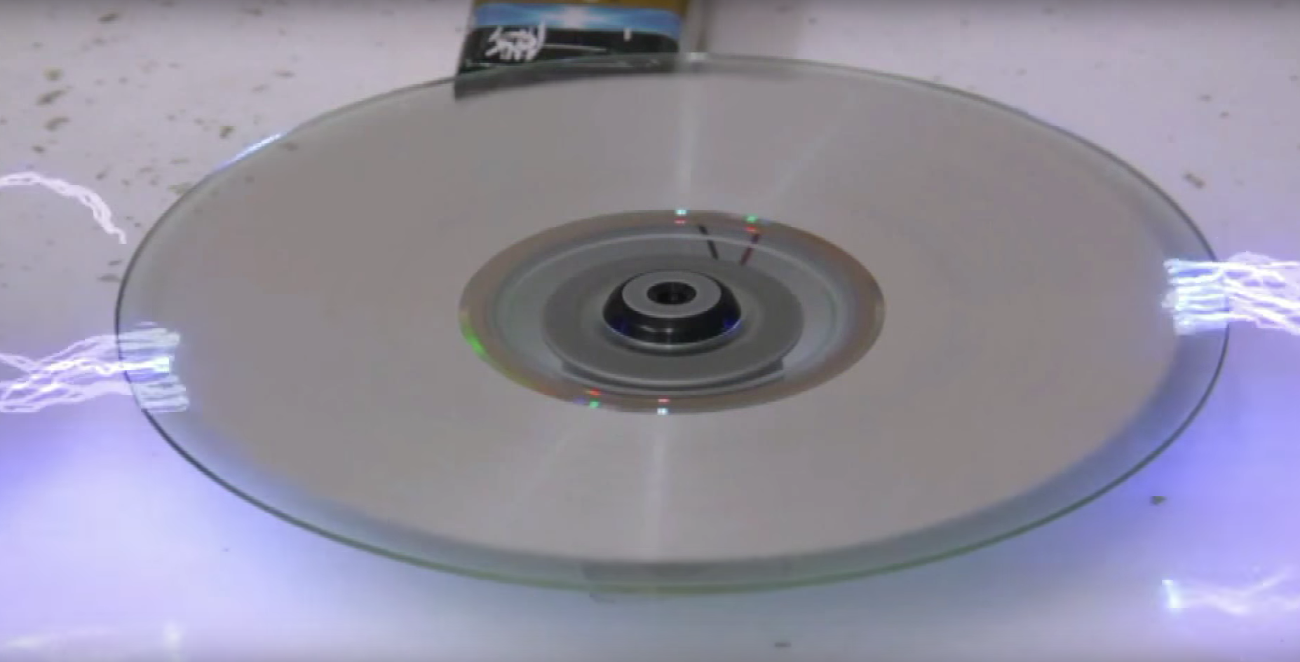 See What Happens When This Guy Tries To Erase a CD With Electricity Volts