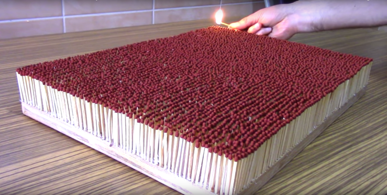 Light 6000 Match Sticks At Once