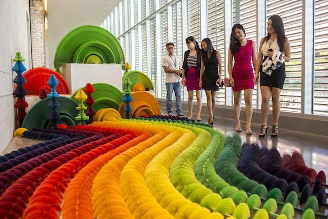 The Rainbow Paper Flower Garden