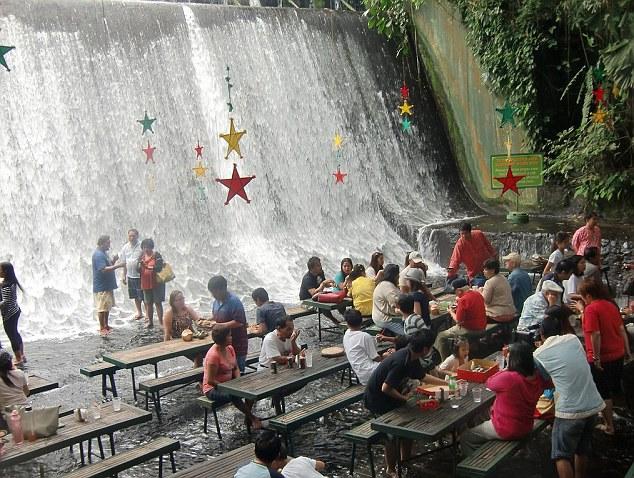 Labassin Waterfall Restaurant in San Pablo Philippines