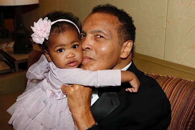 Muhammad Ali With Granddaughter Sydney