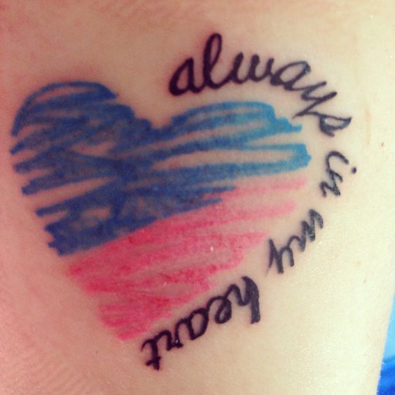 Always In My Heart - miscarriage tattoo