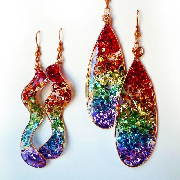 DIY Glitter Earring