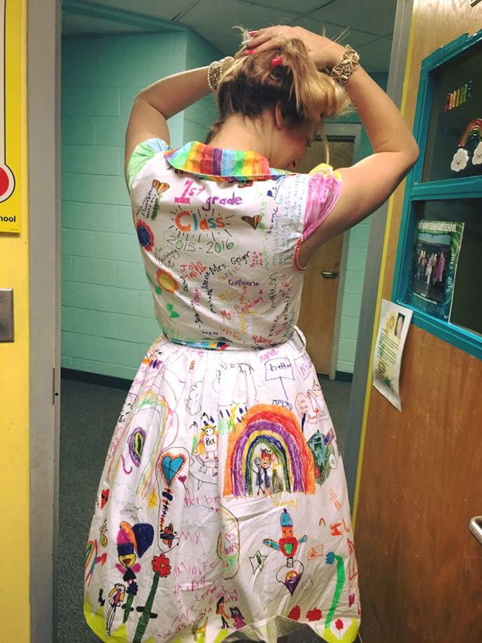 students doodle teacher dress chris sharee castlebury pat henry elementary 3