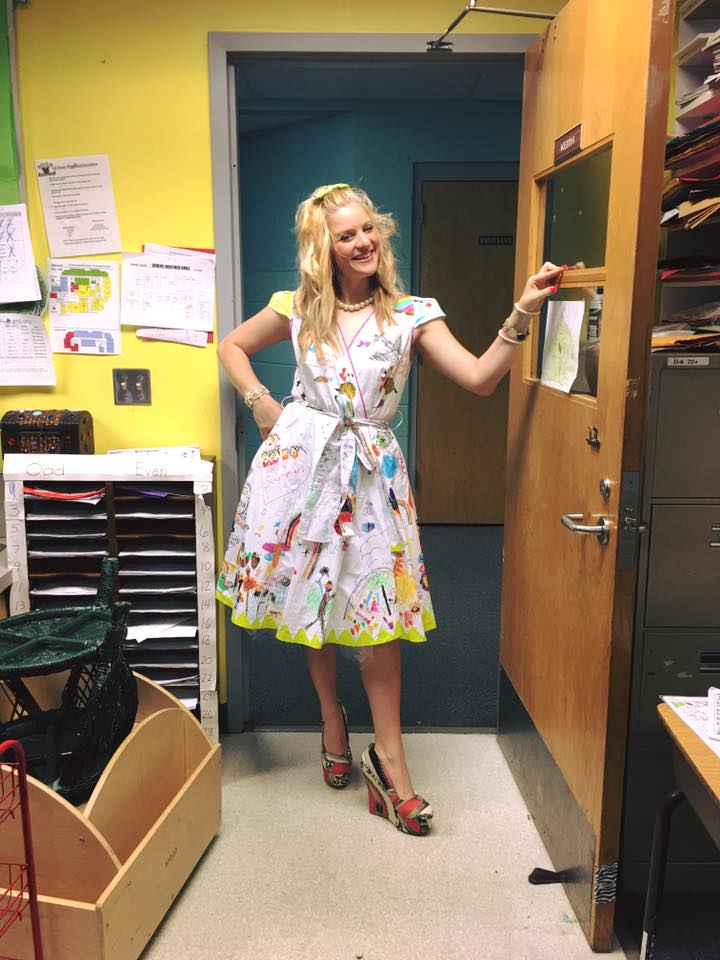 students doodle teacher dress chris sharee castlebury pat henry elementary 6