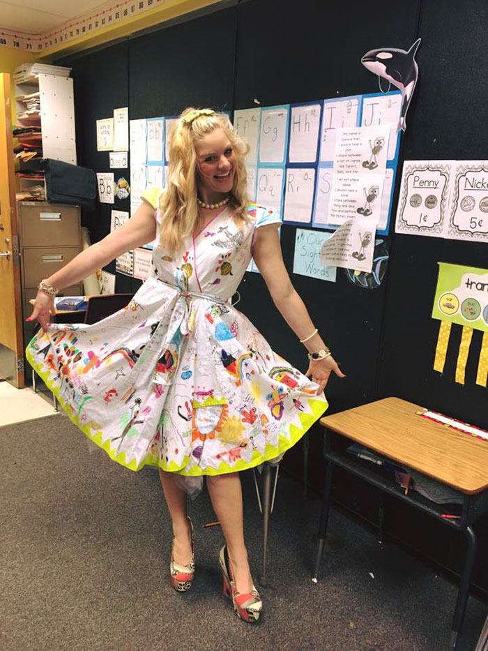 students doodle teacher dress chris sharee castlebury pat henry elementary