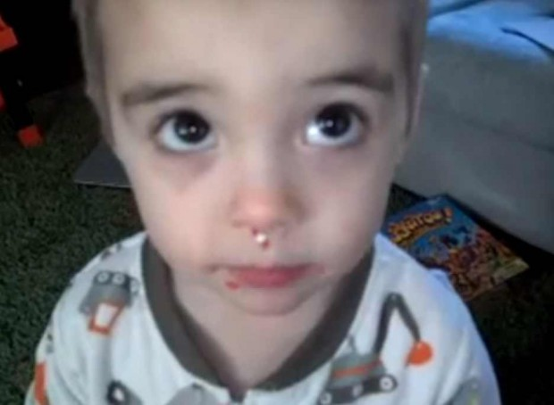 This 3-year old saying he didn't eat sprinkles, is too cute to be missed.