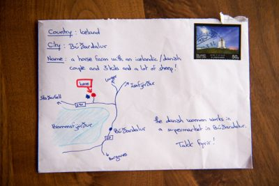 A Hand drawn map as address