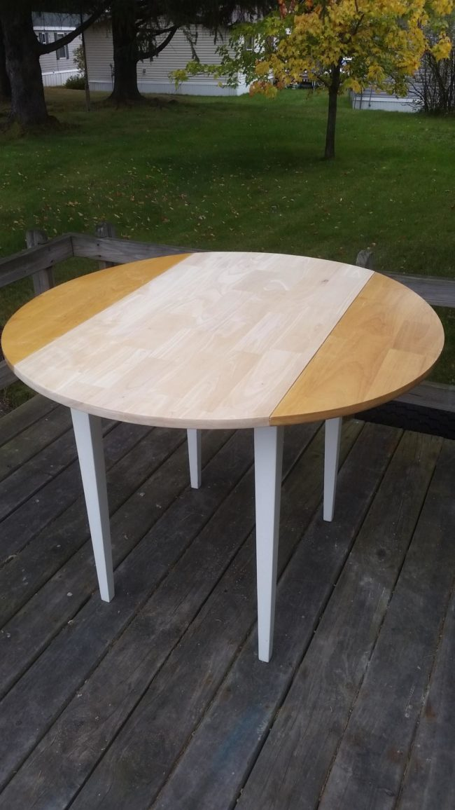 striping and sanding the table  | DIY flower table project
