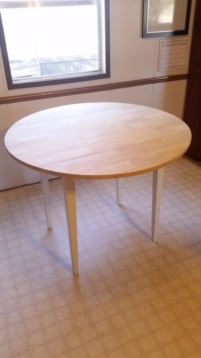 reassembling and staining the table  | DIY flower table project