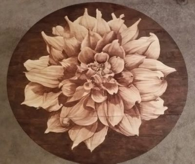 took 9 months to complete this cool DIY flower table project