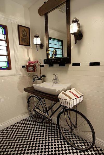 A Vintage Bicycle Sink DIY Tutorial