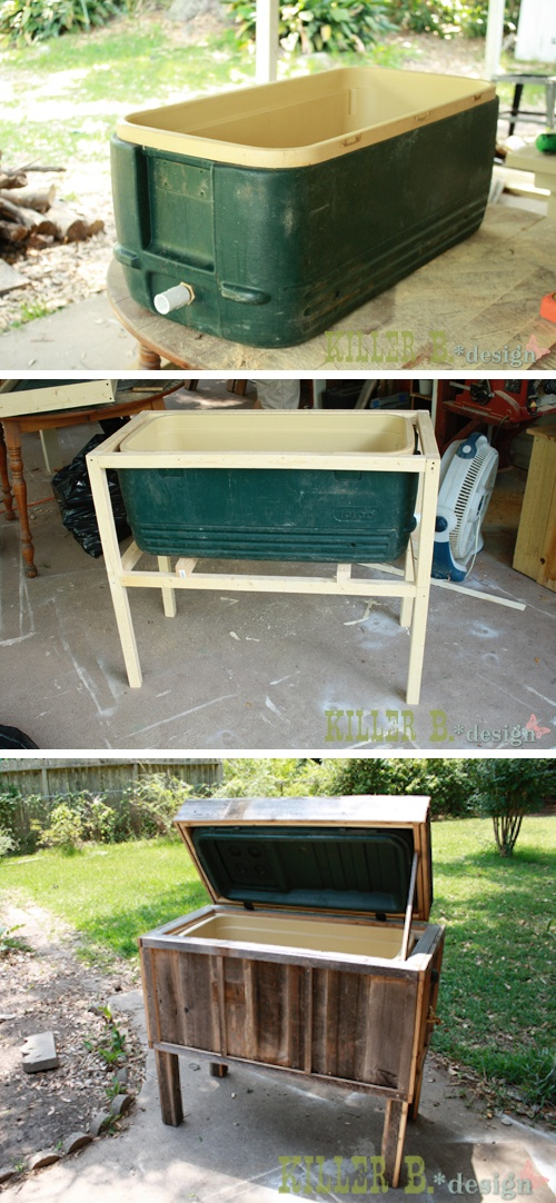 Ice chest makeover into a nice standing chest