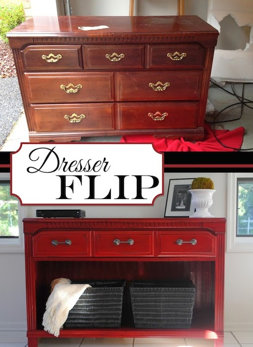 Dresser Flipped Into Storage Space