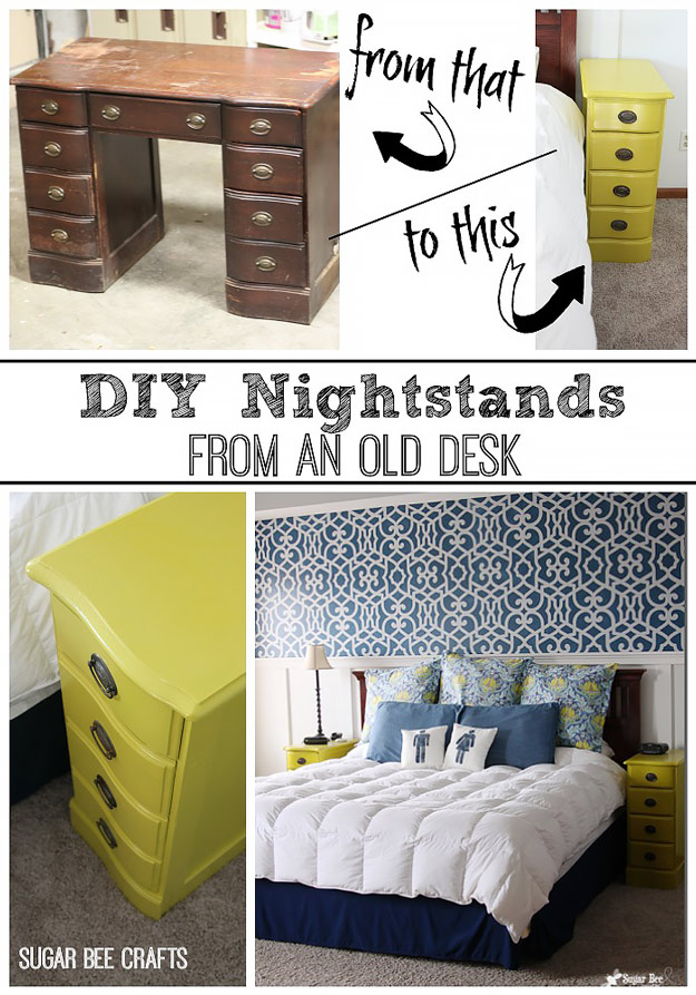 Making Night Stands From An Old Desk