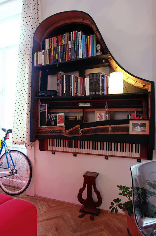 Grain Piano Bookshelf DIY project