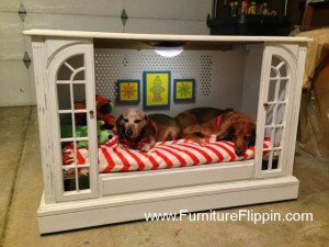 TV Console Into A Pet Bed