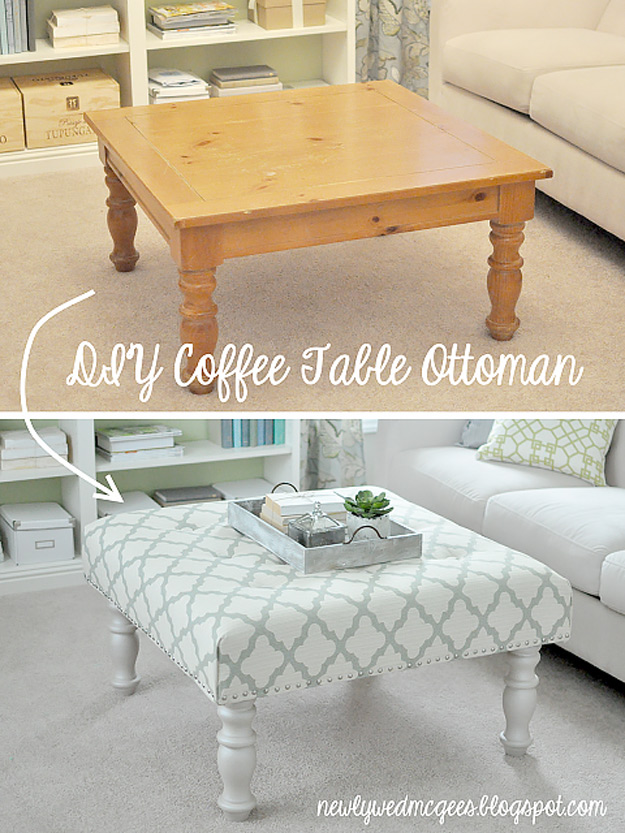 From Coffee Table To Ottoman