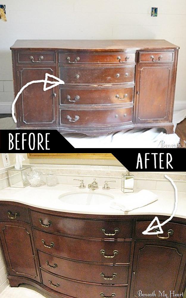 Convert Dresser Into A Vanity