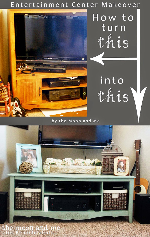 Entertainment Center Into A TV Console