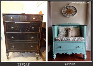 A Dresser Turned Into A Bench | DIY Project