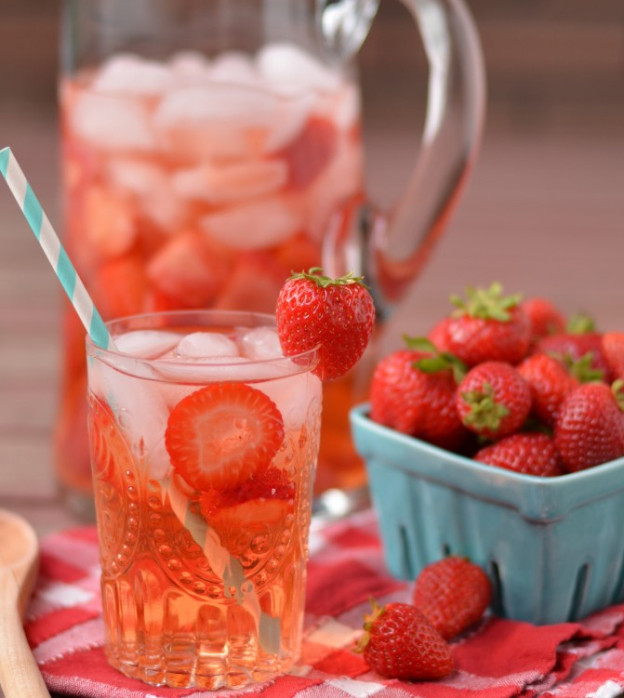 Strawberry Anti-aging Detox water For glowing beautiful skin