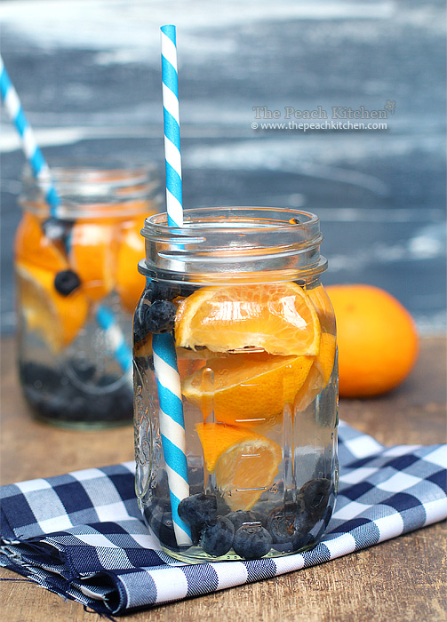 Blueberry Orange Detox water for glowing beautiful skin