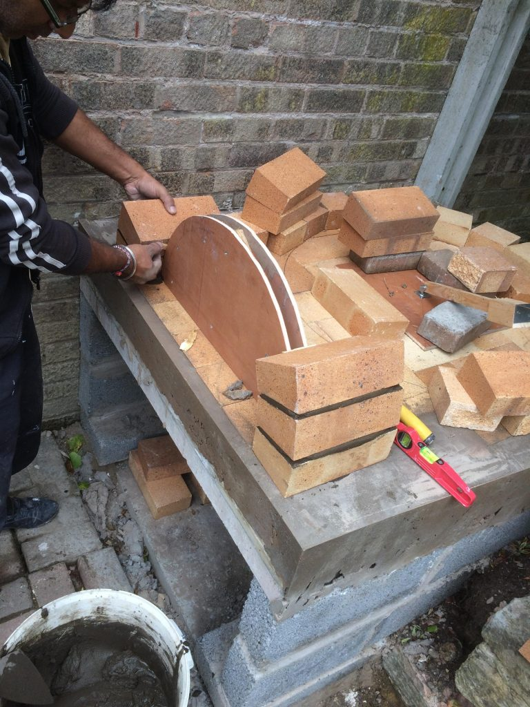 DIY Outdoor Brick Pizza Oven Step 9