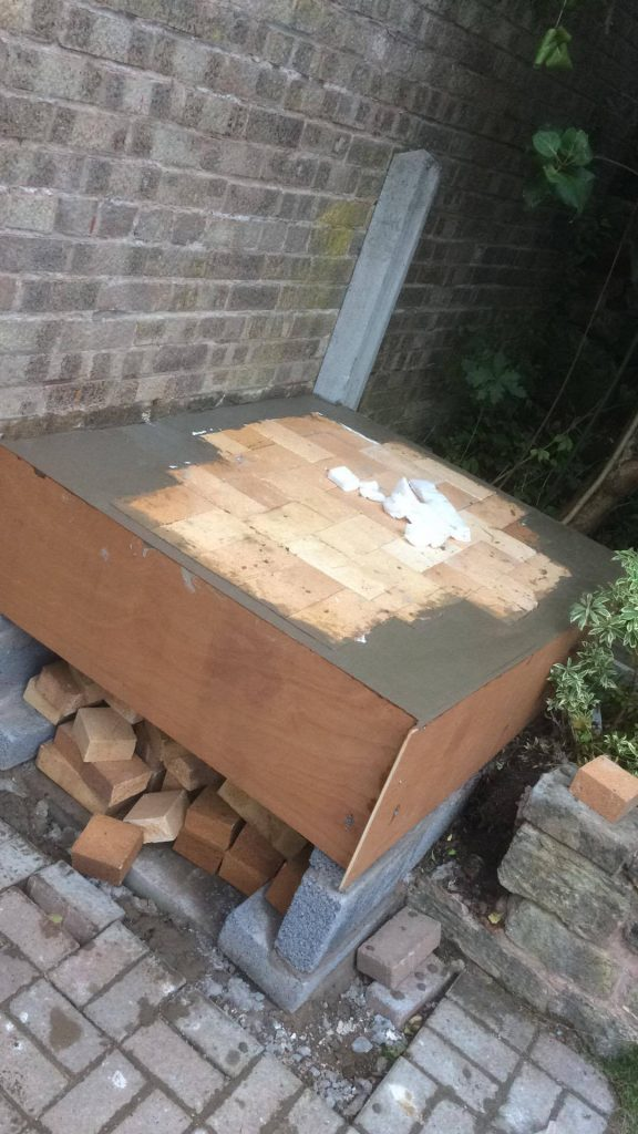 DIY Outdoor Brick Pizza Oven Step 8