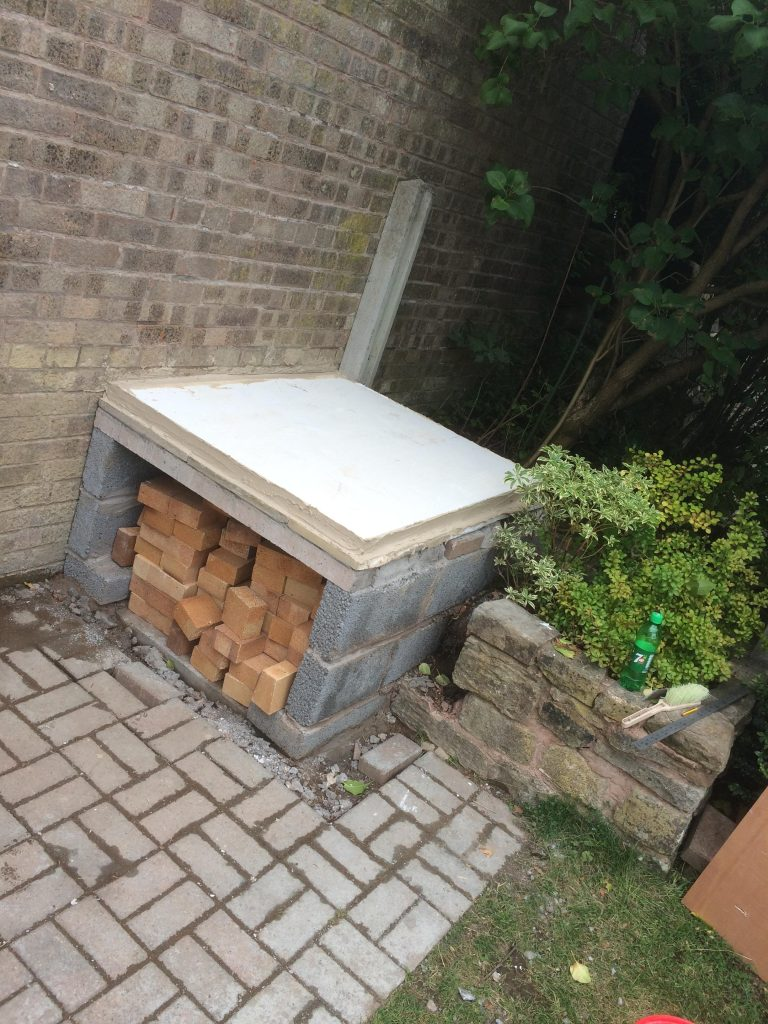 DIY Outdoor Brick Pizza Oven Step 6