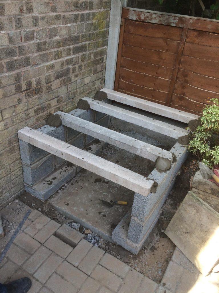 DIY Outdoor Brick Pizza Oven Step 4