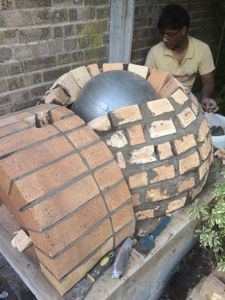 DIY Outdoor Brick Pizza Oven Step 14