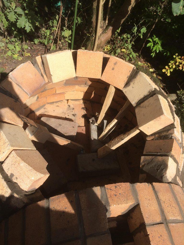 DIY Outdoor Brick Pizza Oven Step 13