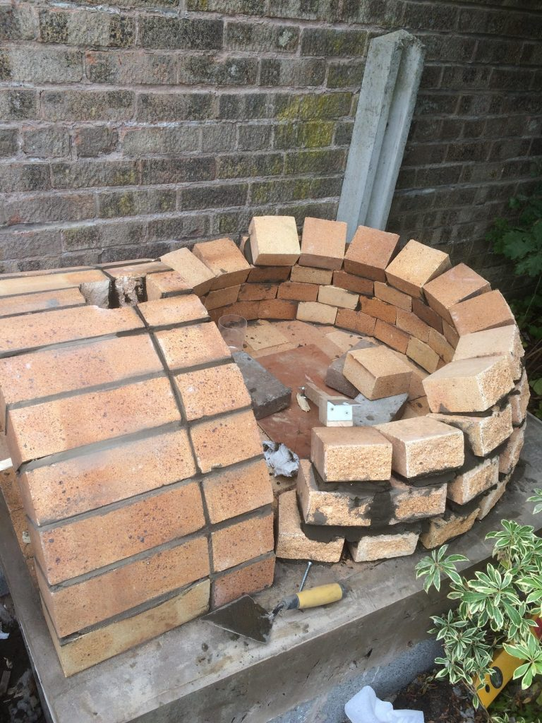 DIY Outdoor Brick Pizza Oven Step 12