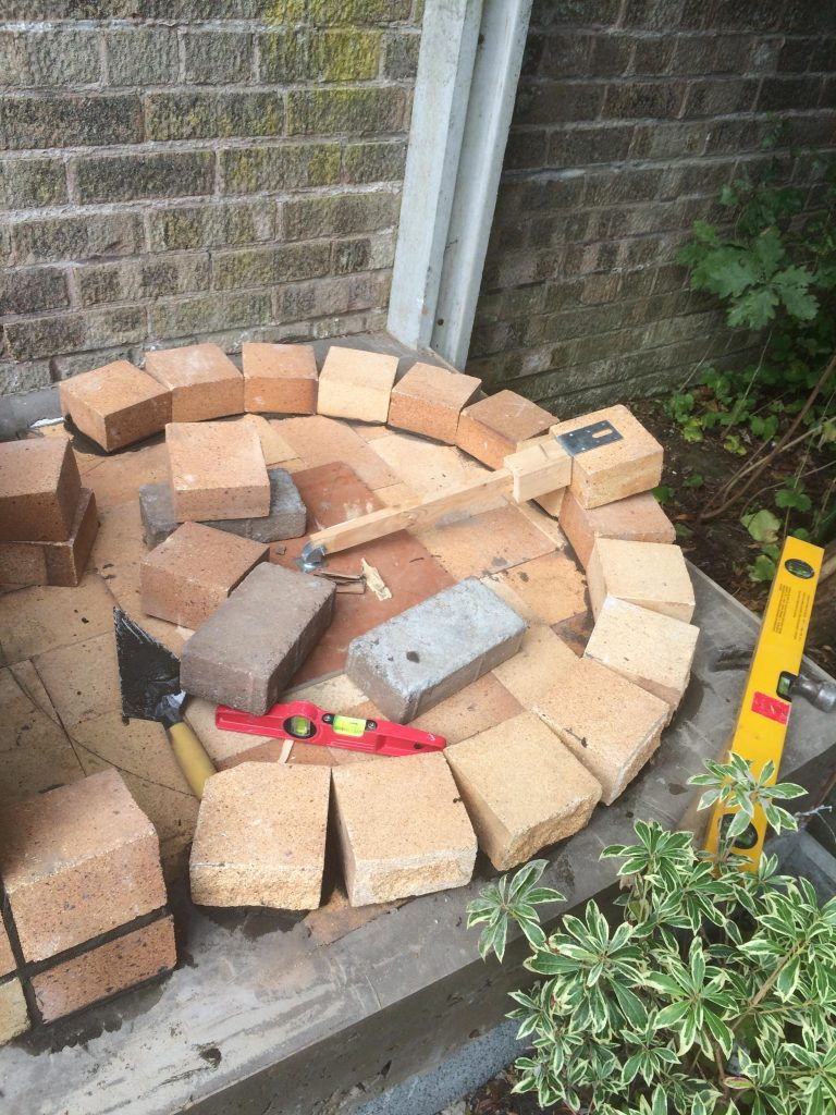 DIY Outdoor Brick Pizza Oven Step 11