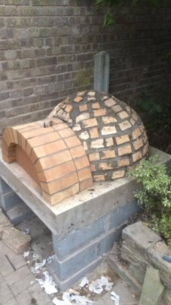 DIY Outdoor Brick Pizza Oven Step 15