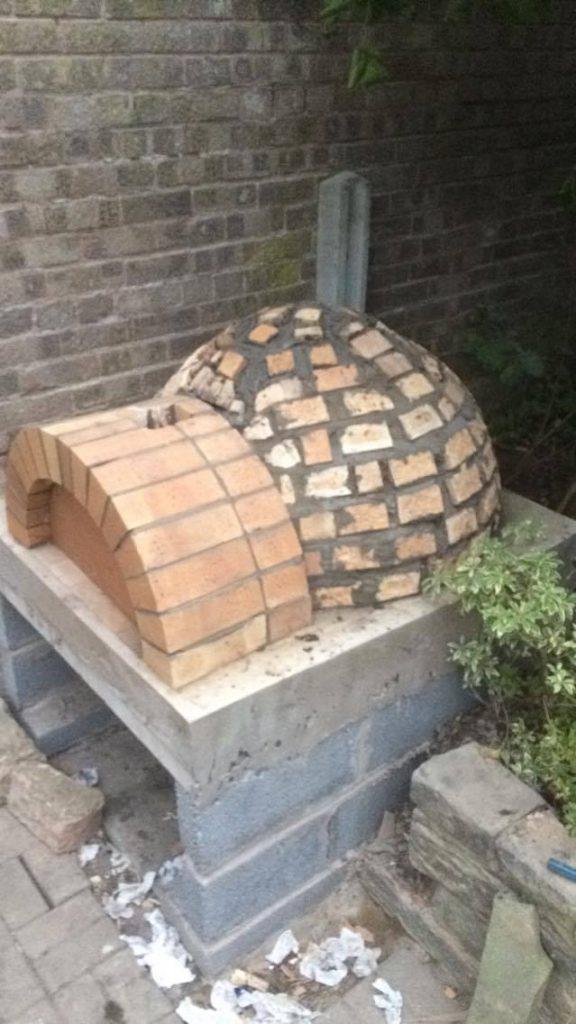 DIY Outdoor Brick Pizza Oven Step 15