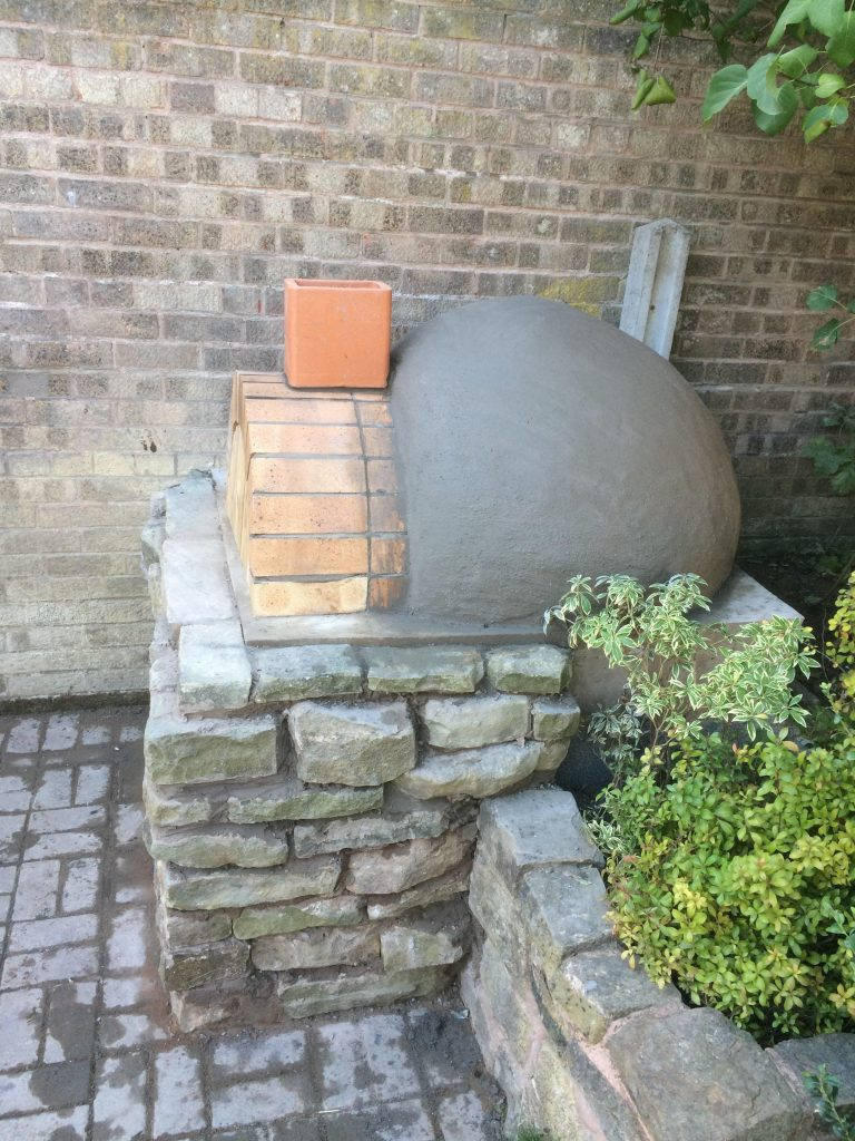 DIY Outdoor Brick Pizza Oven Step 18
