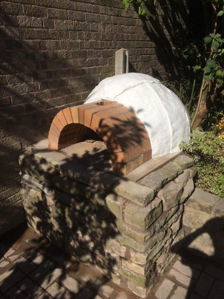 DIY Outdoor Brick Pizza Oven Step 17