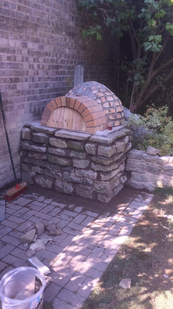 DIY Outdoor Brick Pizza Oven Step 16