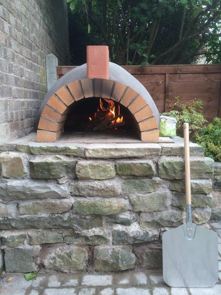 DIY Outdoor Brick Pizza Oven Step 19