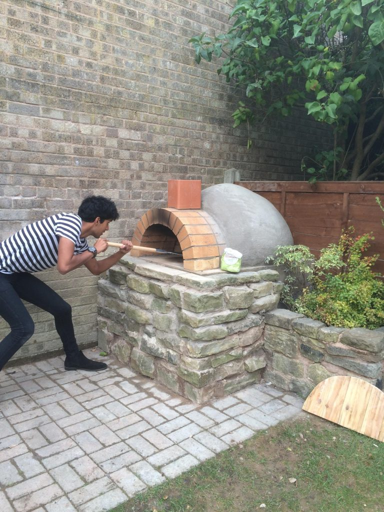 DIY Outdoor Brick Pizza Oven Step 22