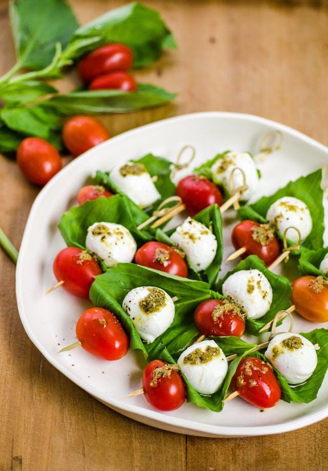 Tomato & Mozzarella Skewers