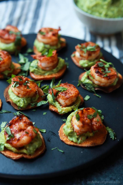 Easy Dinner Party Ideas For 12 Part - 34: Cajun Shrimp Guacamole Bites