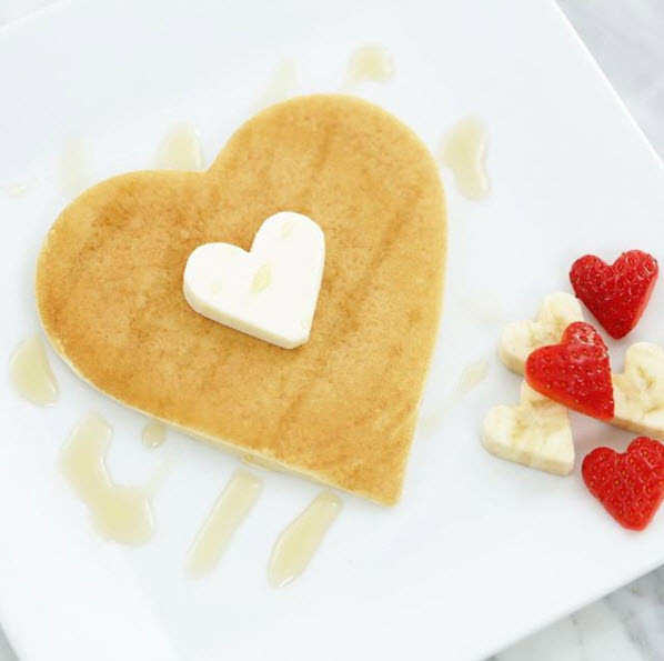 Heart  Pan Cakes