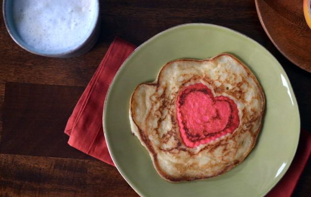 Heart Filled Pancakes