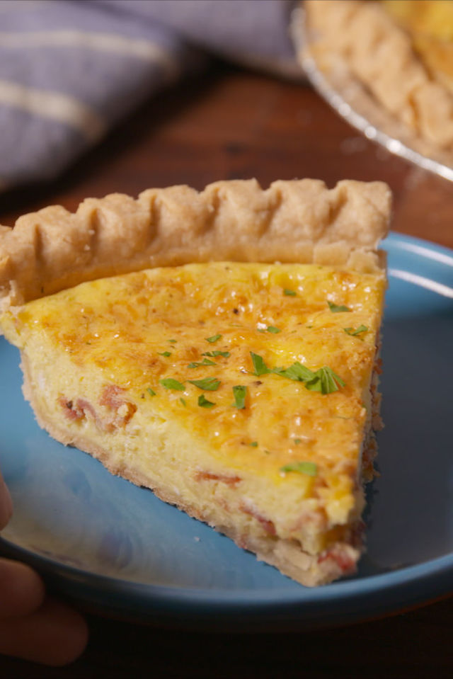 Easy Cheesy Bacon Quiche Recipe